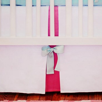 Pinwheel Punch Crib Skirt