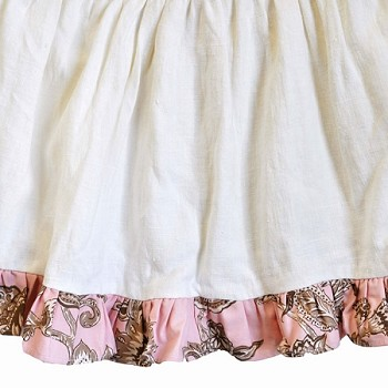 Double Ruffled Custom Paisley Crib Skirt