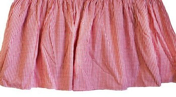 Custom Ruffled Red Gingham Crib Skirt