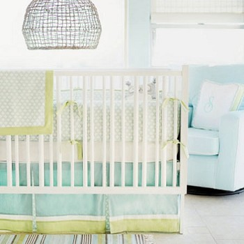 Sprout Green Crib Bedding