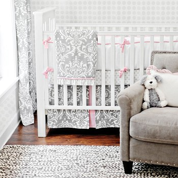 Stella Gray Baby Bedding