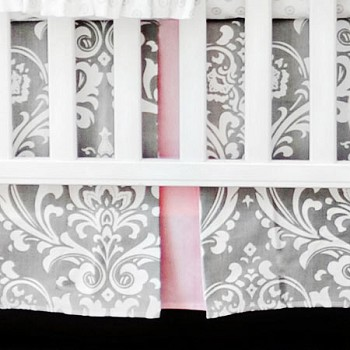 Stella Gray Crib Skirt