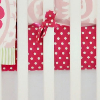 Pink Polka Dot Crib Sheet | Strawberry Fields Collection
