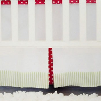 Strawberry Fields Crib Skirt