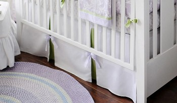 Sweet Violet Crib Skirt