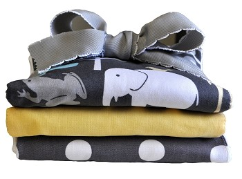 Urban Zoo Burp Cloth Set