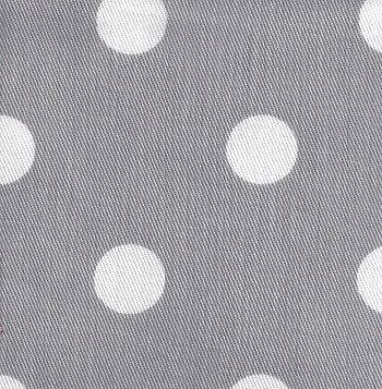 White on Gray Polka Dot Twill