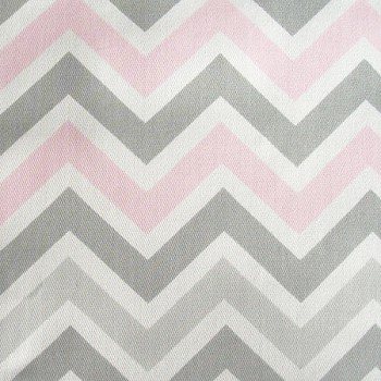 Zig Zag in Pink & Gray Chevron | Premier Prints Zoom Zoom Bella Twill