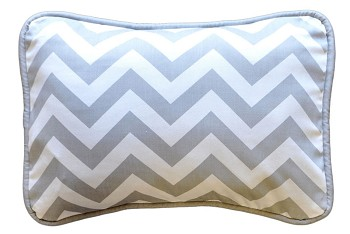 Zig Zag Baby Throw Pillow in Gray