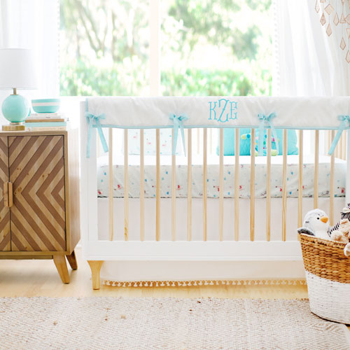 Aqua Crib Bedding