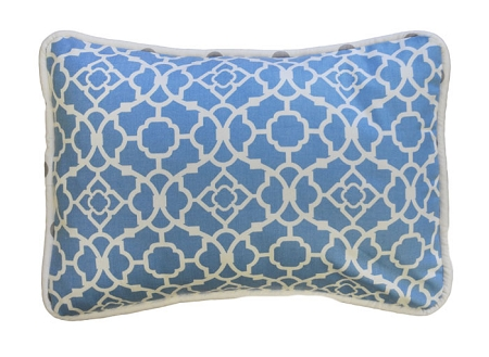 Blue Lattice Throw Pillow
