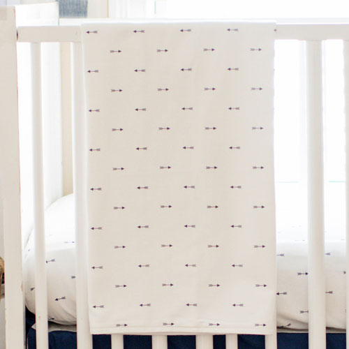 Blue Arrow Baby Blanket | Navy Arrow Crib Collection