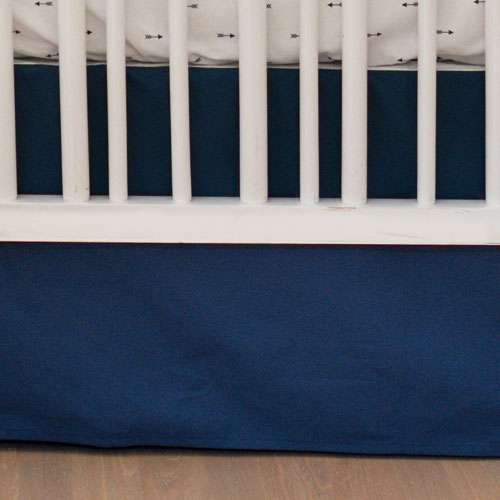 Navy Crib Skirt | Navy Arrow Crib Collection