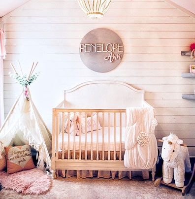 Baby Girl Farmhouse Nursery
