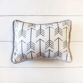Gray Arrow Pillow | Be Brave in Gray Crib Collection
