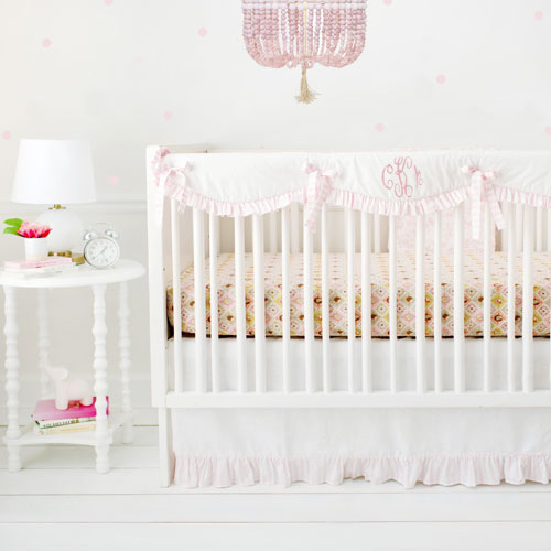 Girl's Woodland Crib Rail Cover Set | Born Wild in Pink Collection
