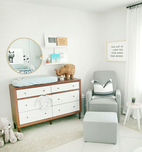 changing table and nursery dresser