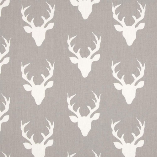 Gray Deer Fabric Art Gallery Fabrics Buck Forest Mist