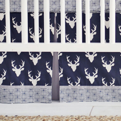 Deer Nursery Skirt | Buck Forest in Twilight Deer Collection