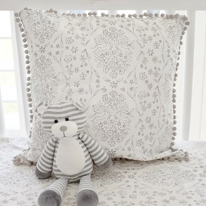 Gray Pillow | Bunny Love Crib Collection