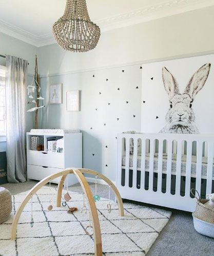 bunny nursery & bunny nursery decor