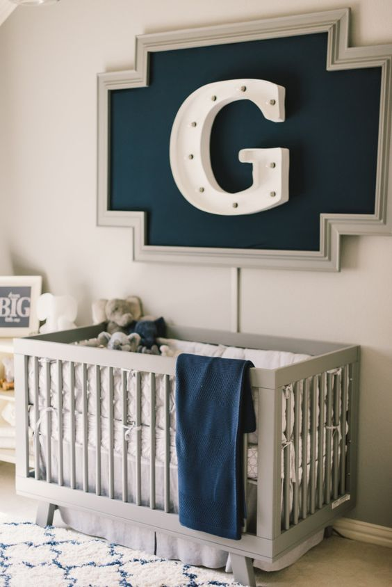Navy Nursery Prints And Letters Are A Great Way To Add More In The Room