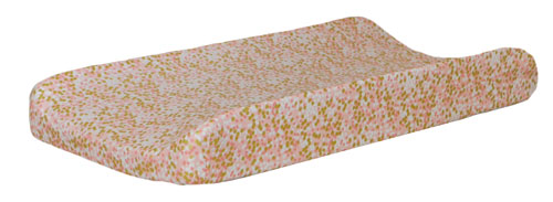 Coral and Gold Changing Pad Cover | Shimmer Reflections Crib Collection