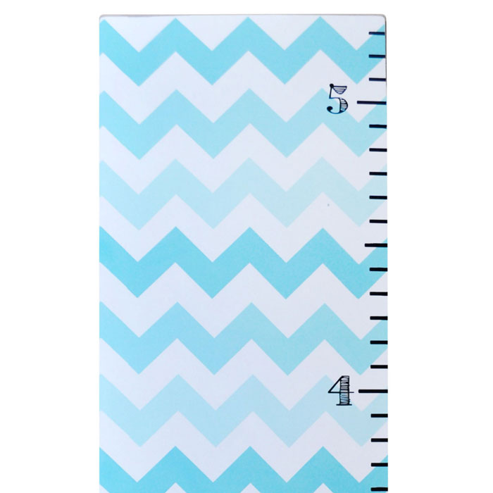 Aqua Ombre Chevron Growth Chart