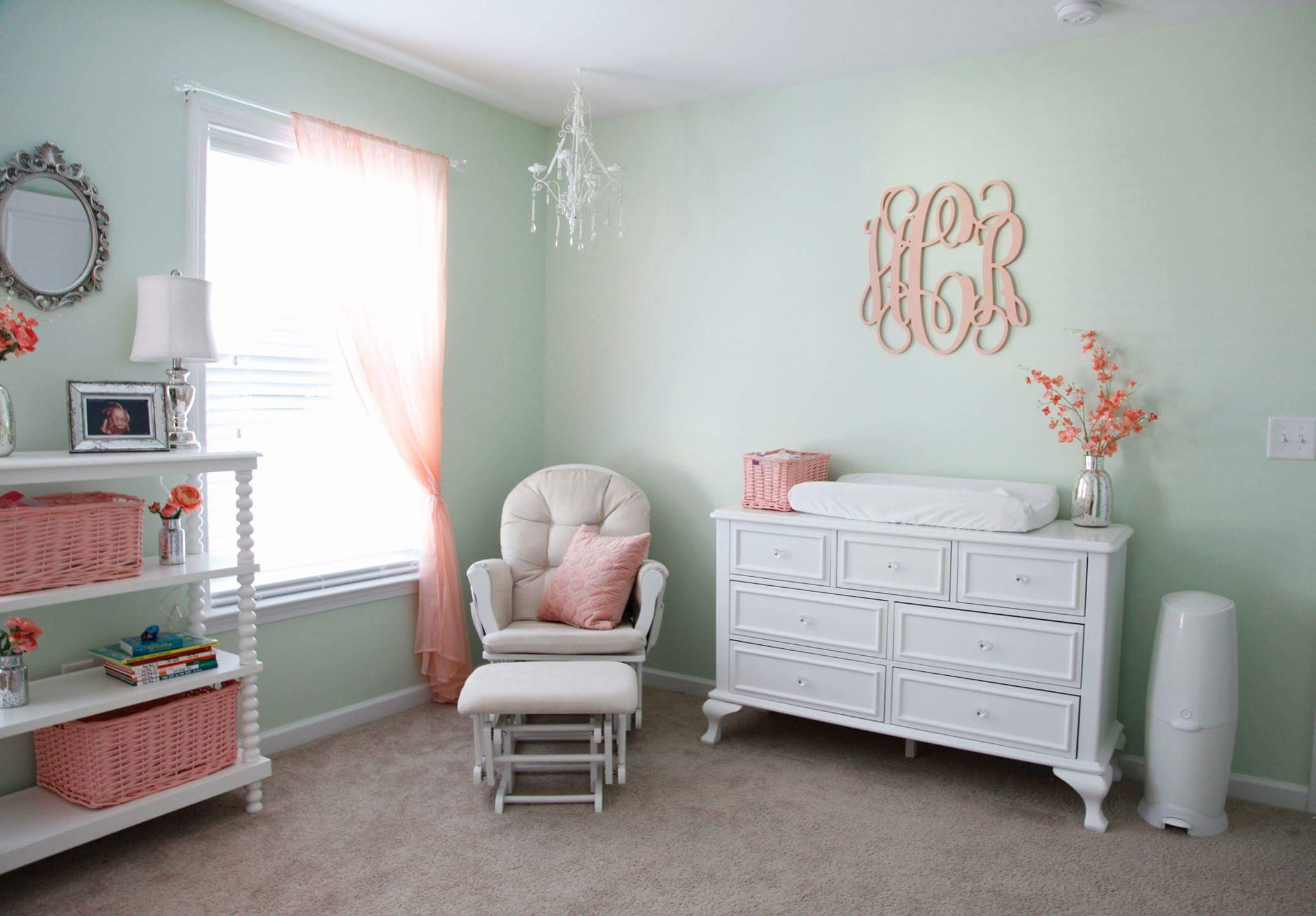Gorgeous baby girl room designed by Michelle Carroll for her daughter Hannah