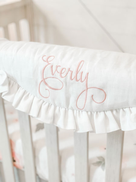 crib rail cover monogram