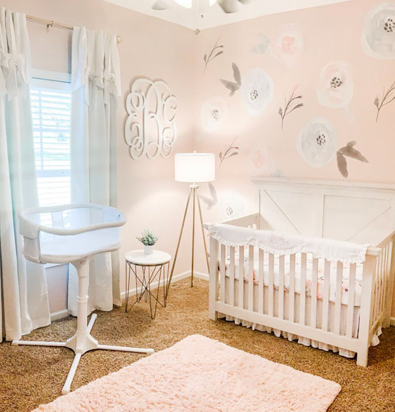 baby girl floral inspired nursery