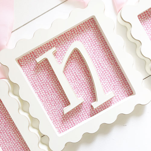 Scalloped Edge Framed Letters