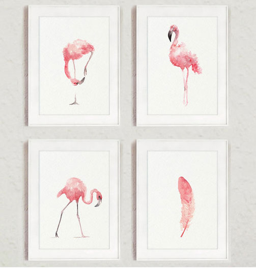 flamingo nursery theme