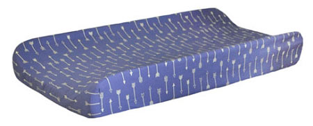 Navy Changing Pad Cover | Go Your Own Way Crib Collection