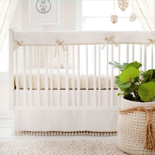 Neutral Gold and White Baby Bedding | Gold Dust Collection