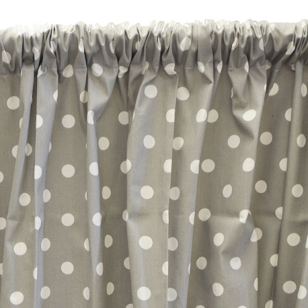 Gray Polka Dot Curtain Panels