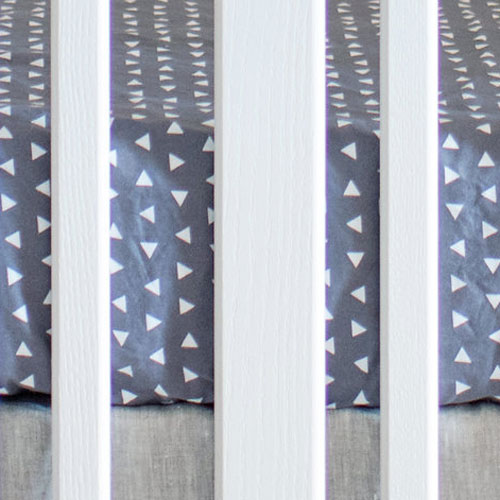 Gray Triangle Crib Sheet