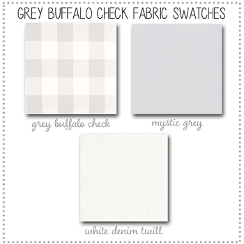 Grey Buffalo Check Crib Bedding Collection Fabric Swatches Only