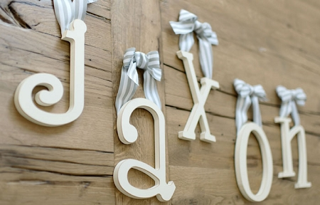 Hanging Letters Wooden Letters For Nursery Hanging