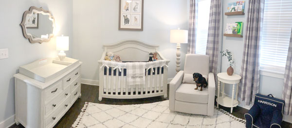 navy and grey nursery