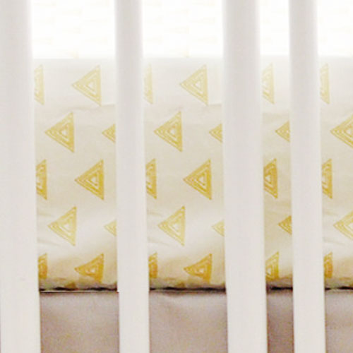Gold Triangle Crib Sheet | Head West & Mint Deer Collection