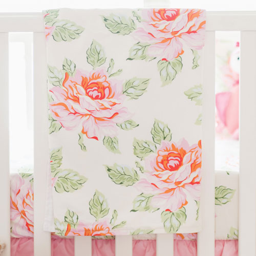 Pink Baby Blanket | Hello Rose Crib Collection