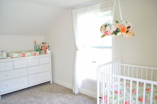Rose Themed Nursery Floral Baby Bedding