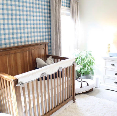 rustic farmhouse crib and baby bedding
