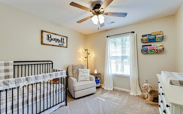 buffalo plaid nursery room