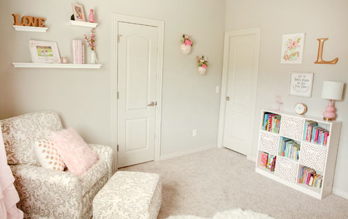 pink baby bedding