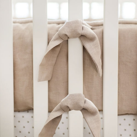Neutral Bumper | Washed Linen in Flax Collection