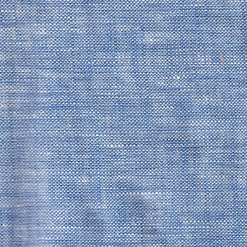 Blue Linen Fabric in Seascape