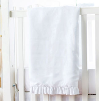 White Baby Blanket | Madison Avenue Crib Collection