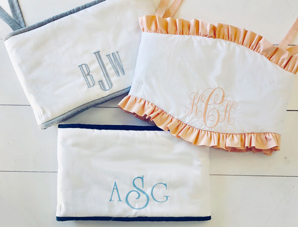 personalized crib bedding